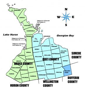 Bruce and Grey County Branch Map